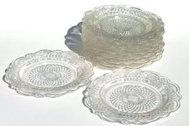clear glass plates clear glass dessert plates vintage federal glass plates clear depression glass small dessert clear glass plates