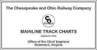 Chesapeake Ohio 1967 Mainline Track Chart Diagram Pdf