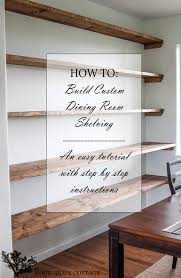 Shelving For Bedrooms Diy Dining Room Open Shelving The Wood Grain Cottage By Diy Shelves For Bedroom Bedroom Bedroom Ideas Pinterest Bedrooms Master Designs Small Sets For Sale