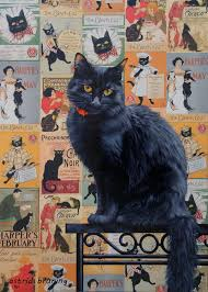 the black cat painting by astridbruning