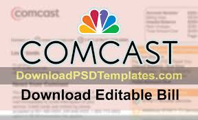 download Bill Editable Psd Template Comcast