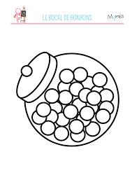 Coloriage Bocal De Bonbons Momes Net