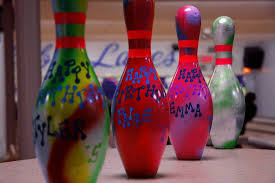Decorated Bowling Pins Birthday Parties Country Club Lanes Tonka Bay Minnesota 32