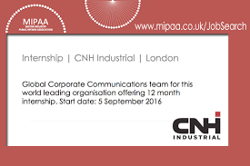 Cnh Industrial – Corporate Communications Intern