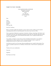 Sample Internship Cover Letter In Information Technology