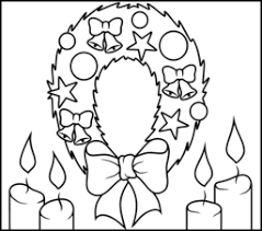 Christmas Wreath Coloring Page Printables Apps For Kids