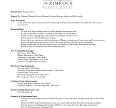 Famous Banquet Set Up Resume Image Documentation Template Example
