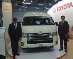 Toyota Hiace at the Bus and Special Vehicles Show India - Indian ...