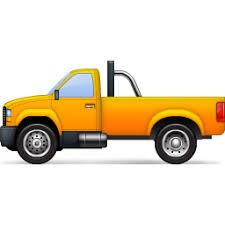 Yellow Pickup Truck Icon, PNG ClipArt Image - Clip Art Library