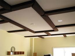 coffer lighting. acoustic coffered ceiling personal room coffer lighting