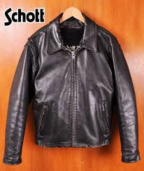 made in usa schott shot collar with single ray jacket with leather jackets liner vest black leather steerhide 40 mens m equivalent