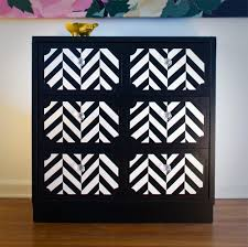 chevron painted furniture. Before \u0026 After DIY Dresser Makeover Via @Design*Sponge. Chevron DresserPainted Painted Furniture