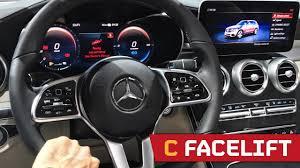 Change original mechanical dashboard to widescreen digital dashboard. Facelift Mercedes C Class The New Digital Interior Iaa 2017 Youtube