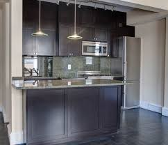 Dark Shaker Kitchen Cabinets Dark Stained Shaker Cabinets Upper West Side New York City Ny