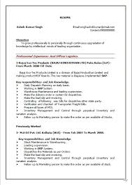 Resume Blog Co Resume Sample Of B Com Working As Assistant Officer