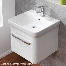 qualitex ascent furniture cornell 500mm wall hung base unit basin