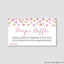 pink and gold baby shower diaper raffle ticket gold glitter baby pink and gold baby shower diaper raffle ticket cards and diaper raffle sign printable instant pink gold glitter dots 0008 p