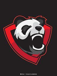 Gaming Logo Design Free Furious Panda Mascot Gaming Logo Free Download Omair