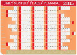 Daily Planners 2015 2020 Vector Of Planning Chart Of Daily Stock Vector Colourbox