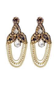 bronze palace chandelier earrings by deepa gurnani