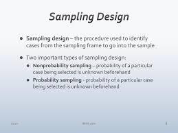 Types Of Sampling Design Ppt Chapter 8 Sampling Powerpoint Presentation Free