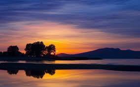 sunset landscapes nature HD wallpaper ...