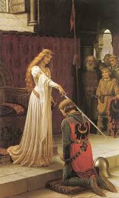the accolade by edmund blair leighton painted in 1901
