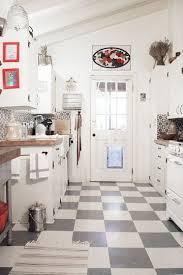 black and white tile floor kitchen. Chef Brandon Boudet\u0027s Charming Cottage Kitchen Black And White Tile Floor D