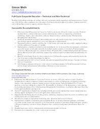 Recruiting Resume Pelosleclaire Com