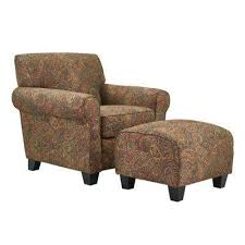 Image Ottoman Winnetka Arm Chair And Ottoman In Paisley The Home Depot Paisley Furniture The Home Depot