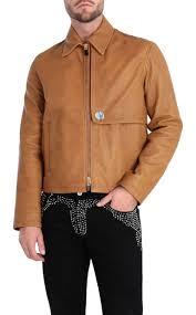 just cavalli brown leather jacket leather jacket man f