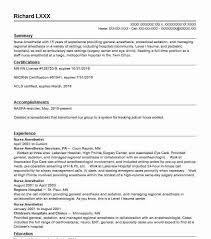 nurse anesthetist resumes anesthesiology resume images reverse search
