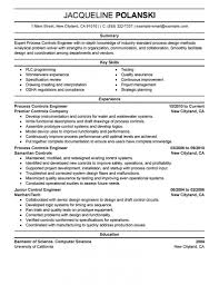 Download Electrical Control Engineer Sample Resume