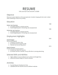 Simple Resume Example Unique Simple Sample Of Resume Examples Of Job Resumes Sample Resume Sample