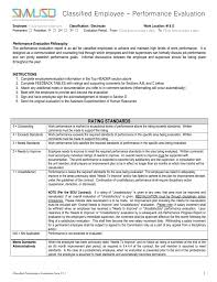 Work Performance Evaluation Electrician Performance Evaluation 1