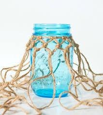 Mason Jars Decorated With Twine Fishnet Wrapped Mason Jar 70