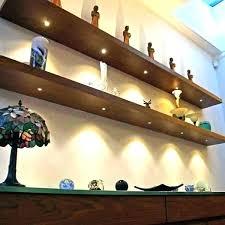 corner floating shelf with led light walnut shelves lights h wit under cabinet battery underneath