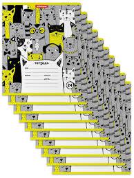 <b>Тетрадь</b> школьная ученическая <b>Stylish</b> Cats, 24 листа, линейка (в ...