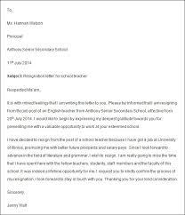how to write a teacher resignation letter to principal   best    resignation letter teacher resignation letter sample sample djvamivh