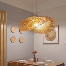 Wave Ceiling Light Us 53 26 50 Off Bamboo Wicker Rattan Wave Shade Pendant Light Vintage Japanese Lamp Suspension Home Indoor Restaurant Dining Table Room Lighting On