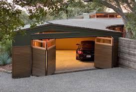 folding garage doors5  automated bifold garage doors in american black walnut