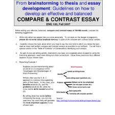 example comparison and contrast essay template example comparison and contrast essay pleasing compare and contrast example of a contrast essay