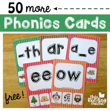 Phonics printable worksheets and activities (word families). Mega Pack Of Free Phonics Cards