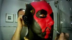 darth maul makeup condensed to 3 minutes