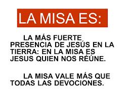 Resultado de imagen de Presencia de  Cristo en la Misa