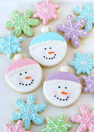 round christmas sugar cookies. Beautiful Cookies Pastel Snowman Cookies  Glorioustreatscom And Round Christmas Sugar T