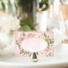 Details About Shabby Chic Place Cards Wedding Name Setting Cards Pink Roses Tea Party Tags