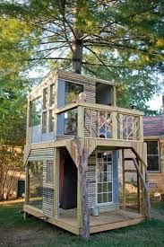 How To Build A Treehouse  Screw  IosDiy Treehouses For Kids
