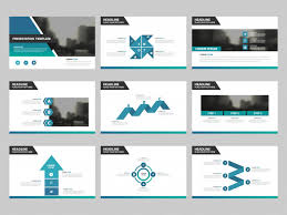 Presentation Design Templates Blue Green Abstract Presentation Templates Infographic