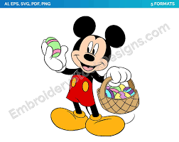 Mickey 7 - Easter - Holiday Disney Character Designs as SVG Vector for  Print in 5 formats - DSNYH000490 • Embroidery Stock Designs | The largest  collection of D… | Mickey easter, Mickey mouse art, Disney easter